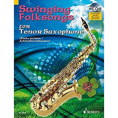 SWINGING FOLKSONGS PLAY-ALONG FOR TENOR SAXOPHONE BK/CD WITH PIANO PARTS TO PRINT, Used Book (9783795758363)