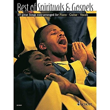BEST OF SPIRITUALS & GOSPEL 59 GREAT SONGS - EASY ARR. VOICE AND PIANO (OPT. GUITAR), New Book (9790001131872)
