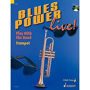 BLUES POWER LIVE] TRUMPET PLAY WITH THE BAND BOOK AND CD (9783795757496)