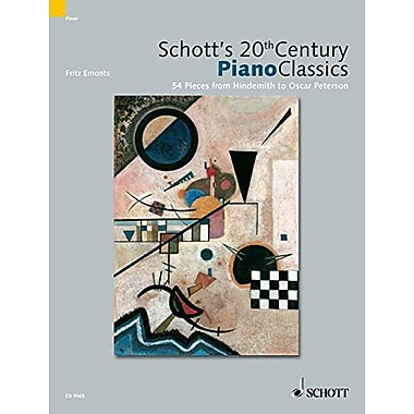SCHOTT 20TH CENTURY CLASSICS 54 PIANO PIECES FROM JANACEK TO CHICK COREA (9783795757380)