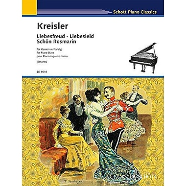 LIEBESFREUD LIEBESLIED & SCHON ROSMARIN -- PIANO DUET PNO/4HD (9790001122009)