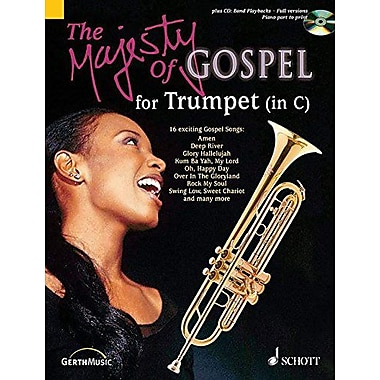 MAJESTY OF GOSPEL FOR TRUMPET IN C BK/CD, New Book (9790001136297)