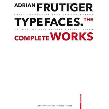 Adrian Frutiger Typefaces, Used Book (9783764385811)