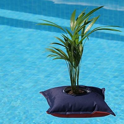 Greenbo Home and Garden Fiorina Plastic Pot Planter; Navy Blue / Orange