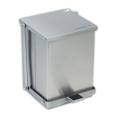 Detecto Stainless Steel Receptacle 25 Gallon Step On Trash Can; 25 Gallon