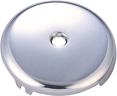 Pioneer Bath Overflow 1 Hole Face Plate; Polished Chrome