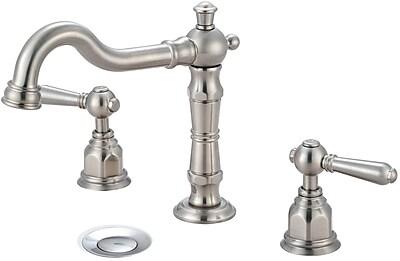 Pioneer Americana Widespread Bathroom Faucet; Brushed Nickel
