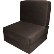 Epic Furnishings LLC Nomad Convertible Chair; Suede Chocolate Brown