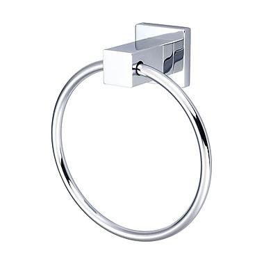 Pioneer Mod Wall Mounted Towel Ring; Polished Chrome