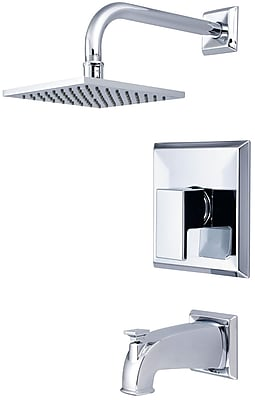 Pioneer Mod Single Lever Handle Tub and Shower Trim Set; Brushed Nickel