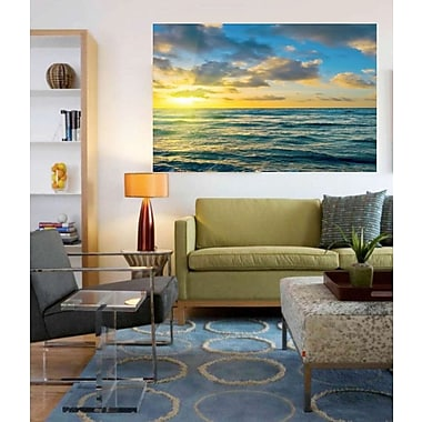 Elementem Photography Ocean and Sun Photographic Print on Wrapped Canvas; 39'' H x 59'' W x 1'' D