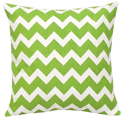 Greendale Home Fashions Chevron Cotton Canvas Throw Pillow; Green