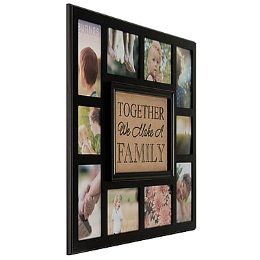 NielsenBainbridge Burnes of Boston Burlap Together We Make a Family Picture Frame