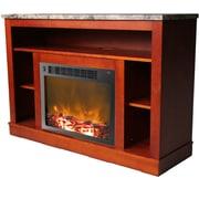Cambridge Seville 47'' TV Stand w/ Fireplace; Cherry