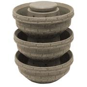 Good Ideas Plastic Vertical Garden (Set of 3); Sandstone