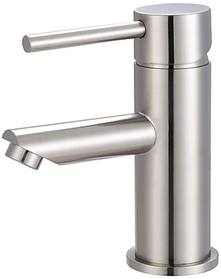 Pioneer Motegi Single Hole Bathroom Faucet w/ Drain Assembly; Brushed Nickel