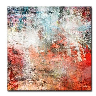 Ready2hangart 'Abstract ABS VI' Framed Graphic Art on Wrapped Canvas; 12'' H x 12'' W x 1.5'' D