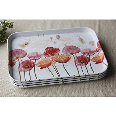 Shall Housewares Melamine Serving Tray (Set of 4); 2'' H x 12'' W x 9'' D