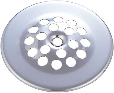 Pioneer Bath Grid Strainer; Polished Chrome
