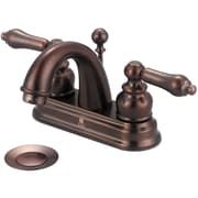 Pioneer Brentwood Double Handle Centerset Bathroom Faucet w/ Drain Assembly; Oil Rubbed Bronze
