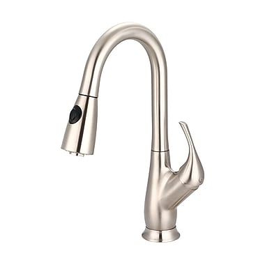 Pioneer Motegi Pull Down Single Handle Kitchen Faucet; Polished Chrome