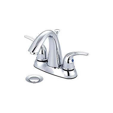 Olympia Faucets Double Handle Centerset Standard Bathroom Faucet w/ Drain Assembly