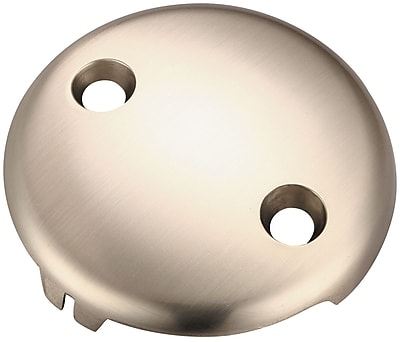 Pioneer Bath Overflow 2 Hole Face Plate; Brushed Nickel