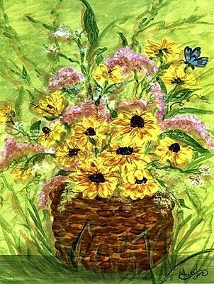 Caroline's Treasures Yellow Daisies 2-Sided Garden Flag