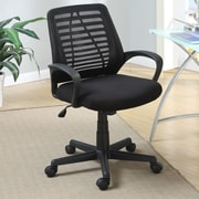 Poundex Mesh Desk Chair; Black