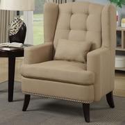 Poundex Bobkona Plano Arm Chair; Light Gold