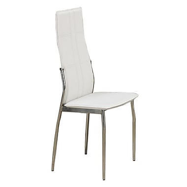Poundex Side Chair (Set of 2); White