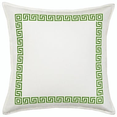 Greendale Home Fashions Greek Key Cotton Canvas Throw Pillow; Green
