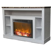 Cambridge Seville 47'' TV Stand w/ Fireplace; White