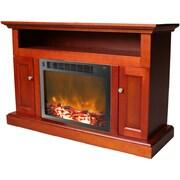 Cambridge Sorrento 47'' TV Stand w/ Fireplace; Cherry