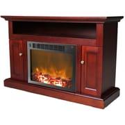 Cambridge Sorrento 47'' TV Stand w/ Fireplace; Mahogany