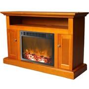 Cambridge Sorrento 47'' TV Stand w/ Fireplace; Teak
