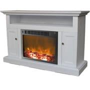 Cambridge Sorrento 47'' TV Stand w/ Fireplace; White