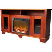 Cambridge Savona 47'' TV Stand w/ Fireplace; Cherry