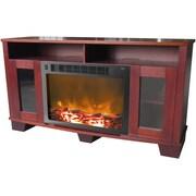 Cambridge Savona 47'' TV Stand w/ Fireplace; Mahogany