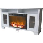 Cambridge Savona 47'' TV Stand w/ Fireplace; White