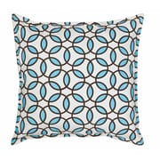 Greendale Home Fashions Rings Cotton Canvas Throw Pillow; Turquoise