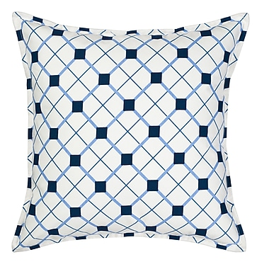Greendale Home Fashions Geo Cotton Canvas Throw Pillow; Blue