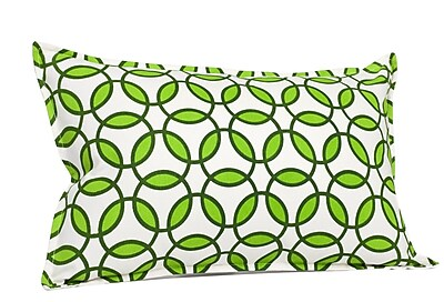 Greendale Home Fashions Rings Cotton Canvas Lumbar Pillow; Green