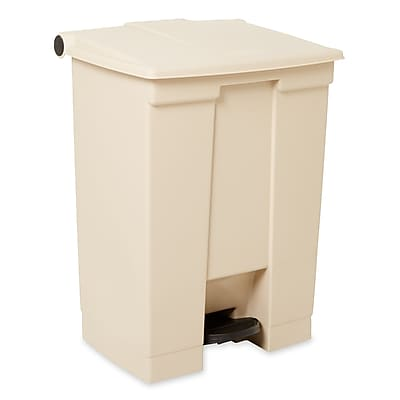Rubbermaid® Fire-Safe Step-On Receptacle, Beige, 18 gal.