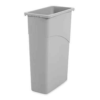 Rubbermaid® Slim Jim® Wastebasket, 23 Gallons, Gray, 30