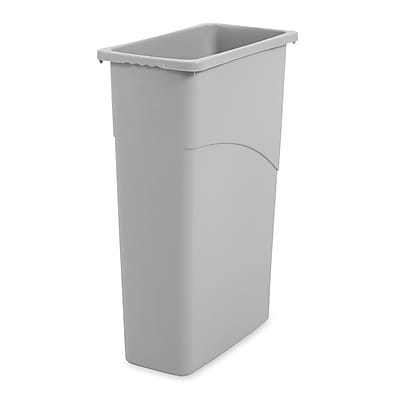 Rubbermaid® Slim Jim® Wastebasket, 23 Gallons, Gray, 30