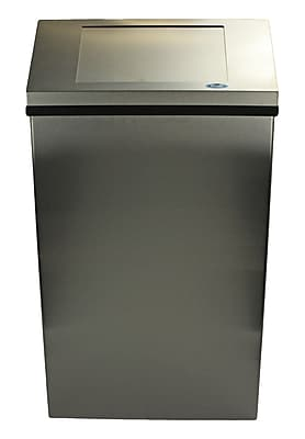 Frost Jumbo Receptacle 17 Gallon Swing Top Trash Can; Stainless Steel