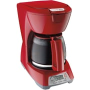 Proctor-Silex Digital Coffee Maker; Red