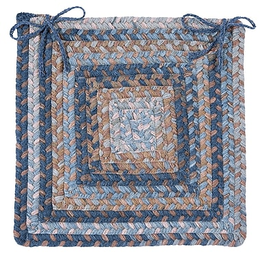 Colonial Mills Gloucester Dining Chair Cushion (Set of 4); Blue