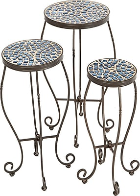 Alfresco Home Tremiti Mosaic Plant Stand